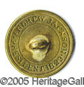 Political:Ferrotypes / Photo Badges (pre-1896), JACKSON INAUGURAL BACKNAME BUTTON. Albert PC-83, 20mm in gilt br...