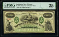Obsoletes By State:Louisiana, New Orleans, LA- Mechanics and Traders Bank $3 Dec. 26, 1873 PMG Very Fine 25.. ...