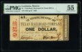 Obsoletes By State:Louisiana, Monroe, LA- Vicksburg, Shreveport and Texas Railroad Company $1 Jan. 13, 1862 PMG About Uncirculated 55.. ...