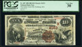 National Bank Notes:Massachusetts, Fitchburg, MA - $10 1882 Brown Back Fr. 487 The Safety Fund National Bank Ch. # 2153 PCGS Very Fine 30.. ...