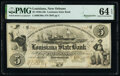 Obsoletes By State:Louisiana, New Orleans, LA- Louisiana State Bank $5 Apr. 11, 1856 G80a Remainder PMG Choice Uncirculated 64 EPQ.. ...