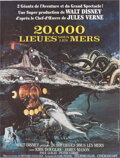 Movie Posters:Science Fiction, 20,000 Leagues Under the Sea (Buena Vista, R-1976). Very F...