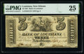 Obsoletes By State:Louisiana, New Orleans, LA- Bank of Louisiana $3 Sep. 19, 1861 G6 PMG Very Fine 25.. ...