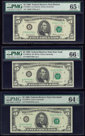Small Size:Federal Reserve Notes, Fr. 1969-A; B*; D $5 1969 Federal Reserve Notes. PMG Graded Gem Uncirculated 65 EPQ; Gem Uncirculated 66 EPQ; Choice Uncircula... (Total: 3 notes)