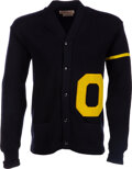 Football Collectibles:Others, Circa 1962 Dave Wilcox University of Oregon Ducks Letterma...
