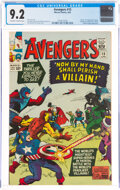 Silver Age (1956-1969):Superhero, The Avengers #15 (Marvel, 1965) CGC NM- 9.2 Off-white to w...