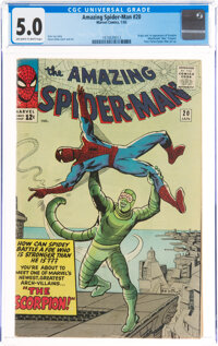 The Amazing Spider-Man #20 (Marvel, 1965) CGC VG/FN 5.0 Off-white to white pages