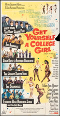 """Movie Posters:Comedy, Get Yourself a College Girl (MGM, 1964). Folded, Fine-. Three Sheet (41"""" X 81). Comedy.. ..."""