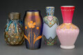 Glass, Four Continental and English Enameled and Partial Gilt Gla...