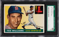Baseball Cards:Singles (1950-1959), 1955 Topps Ted Williams #2 SGC 84 NM 7. How do you...