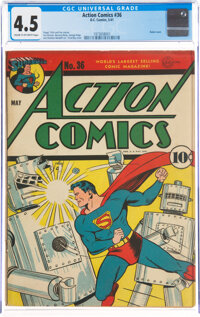 Action Comics #36 (DC, 1941) CGC VG+ 4.5 Cream to off-white pages