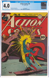 Action Comics #48 (DC, 1942) CGC VG 4.0 Off-white pages