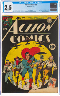 Action Comics #52 (DC, 1942) CGC GD+ 2.5 Off-white pages