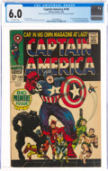 Silver Age (1956-1969):Superhero, Captain America #100 (Marvel, 1968) CGC FN 6.0 Off-white pages....