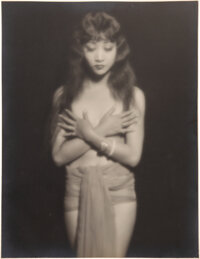 """MGM Studio Portrait Photograph of Anna May Wong """"Singapore Woman"""" in Across to Singapore by Irwin Bueller (MGM..."""