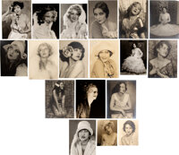 MGM Studio (18) Leading Women Photographic Portraits by Irwin Bueller with 6-signed (1920s-1930s)
