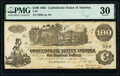 Confederate Notes:1862 Issues, Issued at San Antonio T39 $100 1862 PF-13 Cr. 294 PMG Very Fine 30.. ...