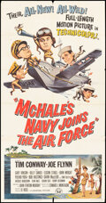 """Movie Posters:Comedy, McHale's Navy Joins the Air Force (Universal, 1965). Folded, Fine. Three Sheet (41"""" X 81). Comedy.. ..."""