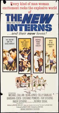 """The New Interns & Other Lot (Columbia, 1964). Folded, Very Good-. Three Sheets (2) (41"""" X 81"""") Howard Terp..."""