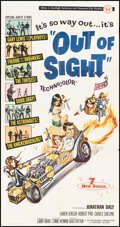"""Movie Posters:Rock and Roll, Out of Sight (Universal, 1966). Folded, Fine+. Three Sheet (41"""" X 81"""") Joseph Smith Artwork. Rock and Roll.. ..."""