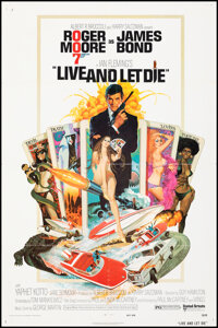 """Live and Let Die (United Artists, 1973). Folded, Very Fine-. One Sheet (27"""" X 41"""") Robert McGinnis Artwork. Ja..."""