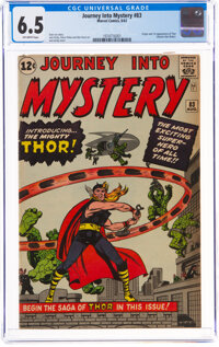 Journey Into Mystery #83 (Marvel, 1962) CGC FN+ 6.5 Off-white pages