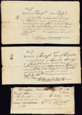 Colonial Notes:Pennsylvania, Philadelphia, PA Paper Items 1790-93 Three Examples Very Fine.. ... (Total: 3 items)