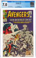 Silver Age (1956-1969):Superhero, The Avengers #14 (Marvel, 1965) CGC FN/VF 7.0 Off-white to white pages....