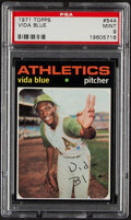 Baseball Cards:Singles (1970-Now), 1971 Topps Vida Blue #544 PSA Mint 9. Offered is a...