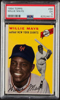 Baseball Cards:Singles (1950-1959), 1954 Topps Willie Mays #90 PSA EX 5. With acrobati...