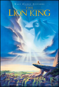 """The Lion King (Buena Vista, 1994). Rolled, Very Fine+. One Sheet (27"""" X 40"""") DS. John Alvin Artwork. Animation..."""