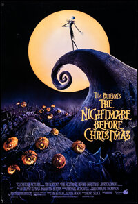 """The Nightmare Before Christmas (Buena Vista, 1993). Rolled, Very Fine-. One Sheet (27"""" X 41"""") DS Animation..."""