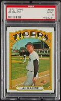 Baseball Cards:Singles (1970-Now), 1972 Topps Al Kaline #600 PSA Mint 9. Offered is a...