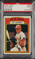 Baseball Cards:Singles (1970-Now), 1972 Topps Pete Rose (In Action) #560 PSA Mint 9. ...