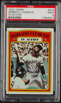 Baseball Cards:Singles (1970-Now), 1972 Topps Roberto Clemente (In Action) #310 PSA Mint 9.