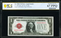 Small Size:Legal Tender Notes, Fr. 1500 $1 1928 Legal Tender Note. PCGS Banknote Superb Gem Unc 67 PPQ.. ...