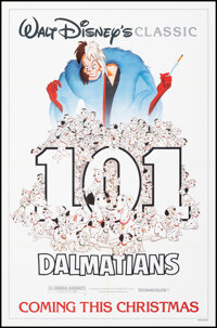 """101 Dalmatians & Other Lot (Buena Vista, R-1985). Folded, Very Fine. One Sheet (27"""" X 41"""") & Special E..."""