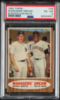 Baseball Cards:Singles (1960-1969), 1962 Topps Managers' Dream (M.Mantle/W.Mays) #18 PSA VG-EX...