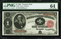 Fr. 352 $1 1891 Treasury Note PMG Choice Uncirculated 64