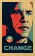 Prints & Multiples, Shepard Fairey (b. 1970). Change, 2008. Offset lithograph in colors on paper. 39 x 24-1/4 inches (99.1 x 61.6 cm) (sheet...