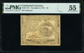 Colonial Notes:Continental Congress Issues, Continental Currency November 2, 1776 $4 PMG About Uncirculated 55.. ...