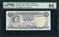 World Currency, Bahamas Monetary Authority 10 Dollars 1968 Pick 30a PMG Choice Uncirculated 64.. ...