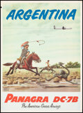 """Movie Posters:Miscellaneous, Panagra Airways (Pan American-Grace Airways, 1950s). Rolled, Very Fine. Poster (21"""" X 28.5"""") F. Molina Campos Artwork. Misce..."""