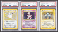 Pokémon Unlimited Base Set 2 Trading Cards Group of 3 (Wizards of the Coast, 2000) PSA NM-MT 8.... (Total: 3 Item...