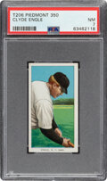 Baseball Cards:Singles (Pre-1930), 1909-11 T206 Piedmont 350 Clyde Engle PSA NM 7. Of...