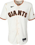 Baseball Collectibles:Uniforms, 2021 Kris Bryant Game Worn, Unwashed & Signed San Francisco Giants Jersey, MLB Authentic - 8/30 vs. Brewers. ...