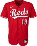 Baseball Collectibles:Uniforms, 2021 Joey Votto Game Worn & Signed Cincinnati Reds Jersey, MLB Authentic - ...