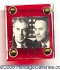 Political:Pinback Buttons (1896-present), 1948 WALLACE-TAYLOR PINBACK JUGATE. Key 1948 Wallace-Taylor pinb...