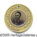 Political:Ferrotypes / Photo Badges (pre-1896), 1860 LINCOLN/HAMLIN FERRO. 1860 Lincoln/Hamlin ferro.  Esse...
