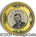 Political:Ferrotypes / Photo Badges (pre-1896), 1868 GRANT/COLFAX FERRO. Beautiful 1868 Grant/Colfax ferro in fa...